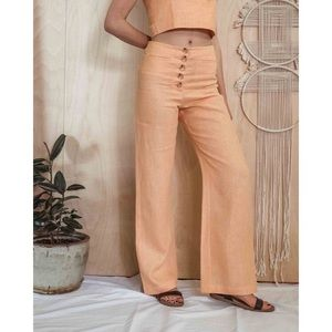 Paloma Wool Adeline high-waist linen pants